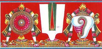 Iyengar - Thenkalai caste symbol