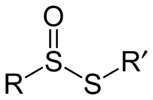 Thiosulfinate - General structure of a thiosulfinate