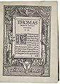 Thomas More Utopia November 1518 Thomas Morvs Petro Ægidio S. D. (The Folger Shakespeare Library).jpg