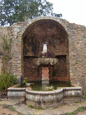Le Thoronet Abbey - The Fountain, the only decorative element in the Abbey, was added in the 18th century when the Abbot relaxed the rules