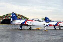 Thundertigers AT-3 0817 Parked at Hsinchu AFB Apron 20151121a.jpg