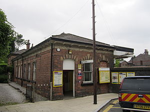 Roby railway station - Image: Ticket office, Roby railway station