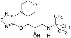 Strukturformel von Timolol