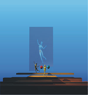 Les mamelles de Tirésias - Design for the opera, 2001