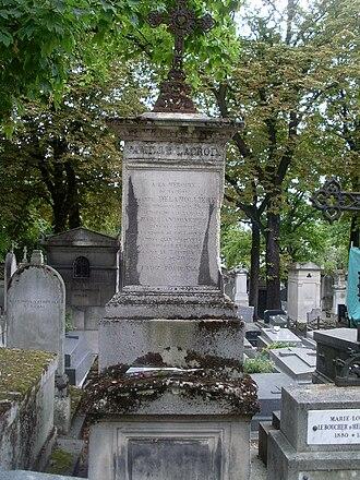 Rosalie Lamorlière - Lamorliere's family tomb in the Père Lachaise Cemetery, Paris.