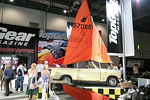 Top Gear challenges - James May's amphibious Triumph Herald.