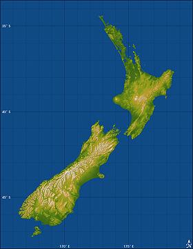 Géographie de la Nouvelle Zélande — Wikipédia