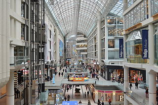 Toronto Eaton Centre shopping mall and office complex in downtown Toronto, Ontario, Canada