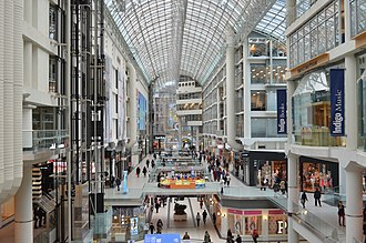 Toronto Eaton Centre - Looking south in the atrium of the Toronto Eaton Centre