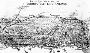 Toronto Belt Line Railway - Image: Toronto Belt Line Railway Map