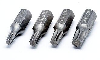 Torx - Image: Torx Bits T15 T20 T25 T30