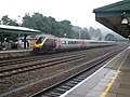 Totnes station - an Aberdeen train, departs for Plymouth - geograph.org.uk - 1382889.jpg