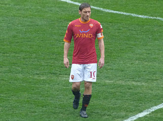 A.S. Roma Hall of Fame - Francesco Totti, most capped player and number-one goalscorer in Roma's history.