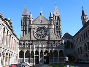 Tournai Cathedral - West portico