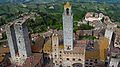 Towers of San Gimignano, Tuscany, Italy. View from Torre Grossa tower. 2014.JPG
