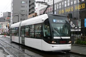 "Toyama Chihō Railway - A 9000 series ""Centram"" tramcar"