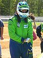 Tracy Krohn in racing suit.JPG