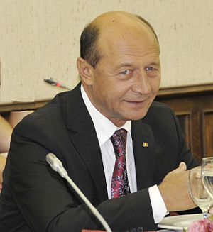 Romanian presidential election, 2009 - Image: Traian Băsescu at EPP Summit September 2010