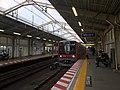 Train arriving in Minami Senju Station - Hibiya Line - Aug 24 2019.jpeg