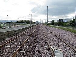 Tram track, Edinburgh Park (geograph 3514661).jpg
