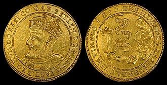 Gabriel Bethlen - Image: Transylvania 1616 10 Ducat gold coin