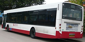 Alexander Dennis Enviro300 - First generation Transbus Enviro300 rear with Travel Surrey in October 2008