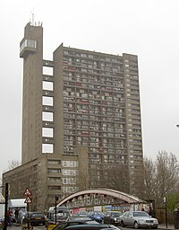 Trellick Tower by Ernö Goldfinger, from Golbor...