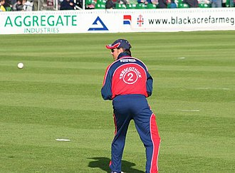 Fielding (cricket) - Marcus Trescothick fields at slip during a Twenty20 match.