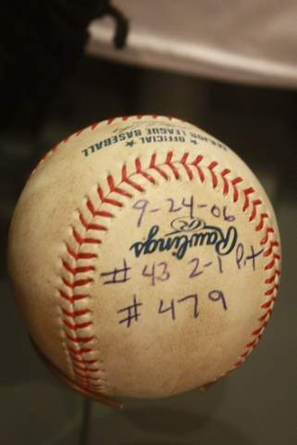 Trevor Hoffman - Baseball from Hoffman's then-record 479th save.