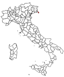 Location of Province of Trieste