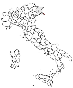 Sistiana - Location of the province of Trieste