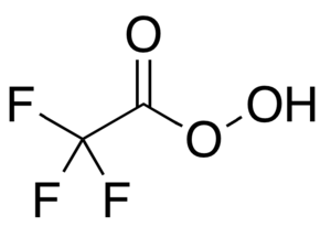 Trifluoroperacetic acid - Image: Trifluoroperoxyaceti c acid