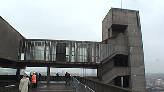 Trinity Square, Gateshead - Derelict state of the rooftop restaurant during April 2008 tour