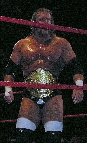 WrestleMania 21 - Triple H as the World Heavyweight Champion.