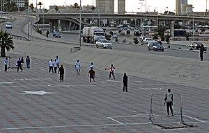 Transport in Libya - A flyover on an urban highway in the capital Tripoli.