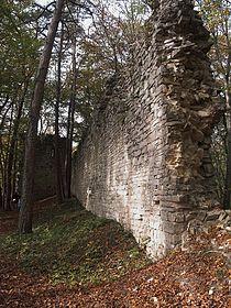 Tudoburg - Mauerreste des Palas