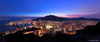 Tuen Mun Satellite Town in Hong Kong