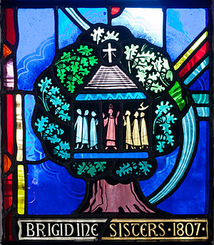 Brigidine Sisters - Image: Tullow Church of the Most Holy Rosary North Transept Window Bishop Daniel Delany Detail Brigidine Sisters 1807 2013 09 06