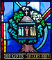 Detail of a window in the Church of the Most Holy Rosary, Tullow, County Carlow, Ireland