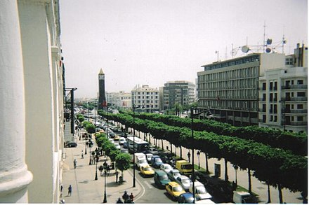 Tunis - Ave. Habib Bourguiba as seen from Carlton Hotel Tunis1.jpg