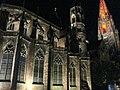 Turmfinale, Feier zum Abschluss der zwölfjährigen Renovierung des Münsterturms mit farbiger Beleuchtung 33.jpg