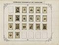 Twee albumbladen met namen en afbeeldingen van Nederlandse schrijvers, dichters, wetenschappers, staatslieden en beeldend kunstenaars Vermaarde personen uit het vaderland (titel op object), RP-F-F01110-G.jpg