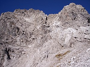 Main dolomite - Main Dolomite Formation, exposed in the Northern Limestone Alps.