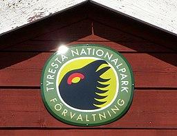 Tyresta nationalparks logo med urfuglen.