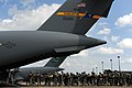 U.S. Army paratroopers with the 1st Brigade Combat Team, 82nd Airborne Division board an Air Force C-17 Globemaster III aircraft for airborne operations June 27, 2013, during Joint Operational Access Exercise 130627-F-GO452-148.jpg