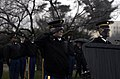 U.S. Soldiers with the U.S. Army Presidential Salute Battery, 3rd U.S. Infantry Regiment salute during a training exercise for the presidential inauguration at Arlington National Cemetery, Va 130115-A-MM054-128.jpg