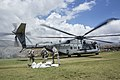 U.S. service members with Joint Task Force Matthew deliver food at Les Anglais, Haiti 161013-M-NX410-017.jpg