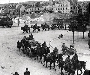 Battle of Château-Thierry (1918) - U.S. field artillery in Château-Thierry