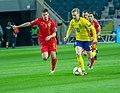 UEFA EURO qualifiers Sweden vs Romaina 20190323 Emil Forsberg and Tudor Baluta 20.jpg