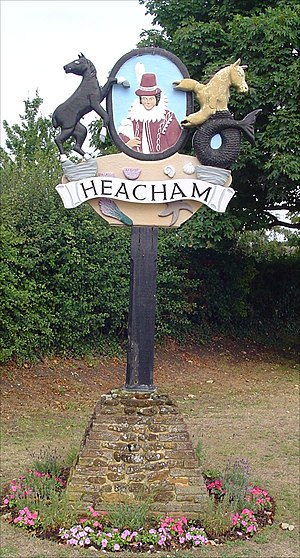 Heacham -  Village sign depicting Pocahontas